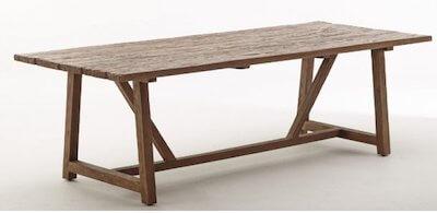 Sika design vintage genbrugstræ spisebord fra gamle huse og fiskerbåde