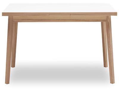 Single spisebord i str. 120 x 80 x 76 cm med hollandsk udtræk