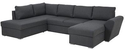 Stanford LUX u sofa med dobbelt chaiselong i gråt stofbetræk
