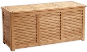 Teak havebænk med opbevaring i str. 130 x 50 x 60 cm med gummifuger