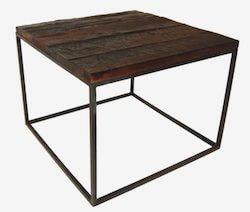 Trademark Living sofabord med råt genbrugstræ og metalben