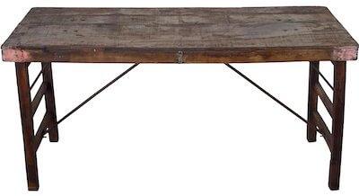 Trademark living spisebord med gammelt træ med flot patina