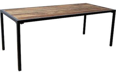 Trademark living spisebord med stel i sort metal og mørk bordplade