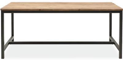 Vintage genbrugstræ spisebord med planker og fede detaljer