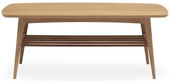 Woodstock klassisk sofabord med hylde til opbevaring