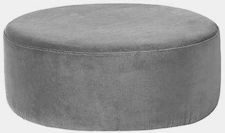 Broste Copenhagen grå polyester drizzle pouf