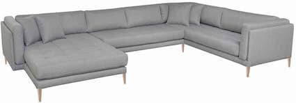 Cali U stor sofa i moderne stil med polstret koldskum i 10 farver