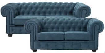 Chesterfield Manchester 2+3 personers sofasæt i turkis