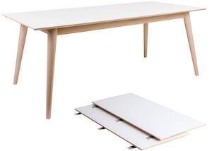 Copenhagen hvid spisebord med udtræk inkl. 2 tillægsplader