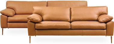 DC 8900 flot sofasæt i læder i cognac brun og komfort hynder