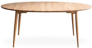 Haslev 7-H rundt spisebord i olieret egetræ ekskl. tillægsplader