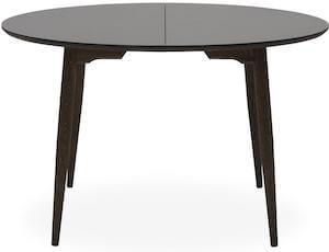 Haslev 9-H spisebord i str. 120 x 74 cm udført i massiv gråolieret egetræ