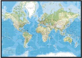 Incado klassisk pinboard verdenskort med navne inkl. ramme