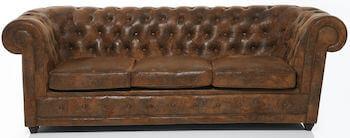 KARE design læder chesterfield sofa udført i oxford læder