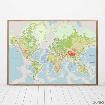 Klassisk skole verdenskort med navne