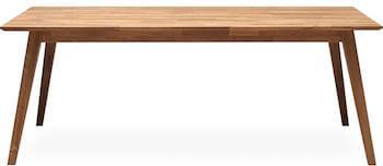Lake massiv egetræsbord med mulighed for udtræk til 2 plader