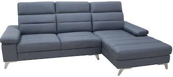 Modena prisvenlig sofa med chaiselong og flot betræk