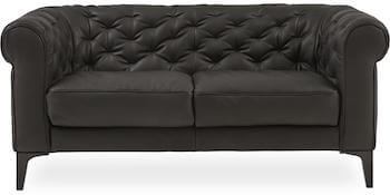 Natuzzi C005 2 personers læder sofa med indsyninger
