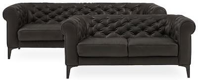 Natuzzi Editions chesterfield sofa sæt med 2+3 personers sofaer