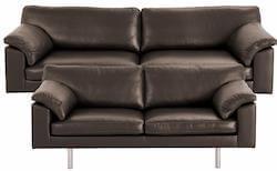 Palermo sofasæt i mørkebrunt okselæder