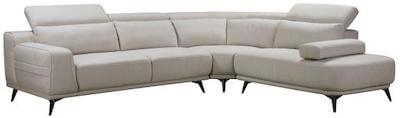 Paola cremefarvet sofa sofa med metal ben og justerbar ryg