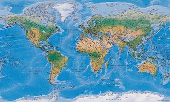 Populær verdenskort i farver du kan style som du vil
