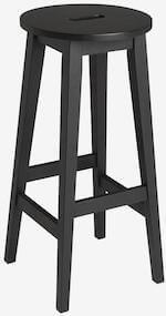 Rowico Confetti sort barstol fremstillet i egetræ i enkelt design