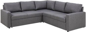 Sacramento budgetvenlig sofa i stof betræk med opbevaring