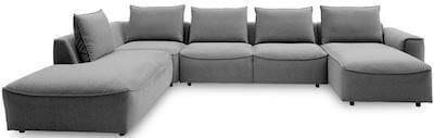 Samone stor sofa dungranulat rygpuder og koldskum sædepolstring