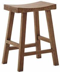 Sika Charles teak stol fremstillet i genbrugs teak og bred sæde
