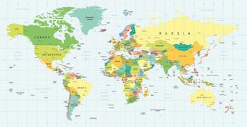 Stort verdenskort i 10 forskellige størrelser