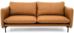 Suny 3 personers sofa i cognac farvet læder