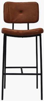 Trademark Living barstol med polstret læder sæde og rygstøtte