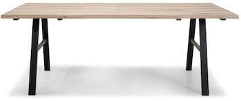 Troense hvidolieret spisebord i eg i moderne design