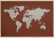 Incado opslagstavle med verdenskort