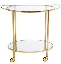 Bloomingville barbord med glasplader i guld