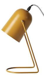 Enchant gul lampe i matlakeret metal