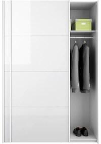 Locus prisvenlig garderobeskab med hylder og bøjlestænger