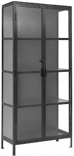 Nordal vitrineskab i metal med 2 døre