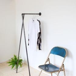 Raw58 Johanne væg vandrør tøjstativ i sort