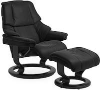 Reno M læder stressless stol med nakke og lændestøtte