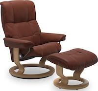 Stressless brun Mayfair lænestol med fodskammel