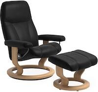 Stressless stol Consul L lænestol inkl. fodskammel