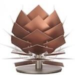 Dyberg Larsen Pineapple bord kobber lampe