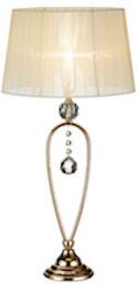 Markslöjd Christinehof krystal bordlampe med hyggeligt lys