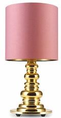 Punk DELuxe rose antik bordlampe med guld fod