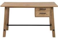 Stockland massiv skrivebord med metalprosse