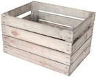 Stor billig opbevaringskasse af træ med patina