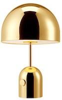 Tom Dixon Bell stor bordlampe i messing