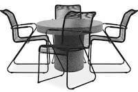 Barbera havemøbelsæt i grå terrazzo
